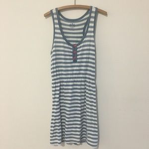 Juicy Couture Blue & White Striped Summer Dress